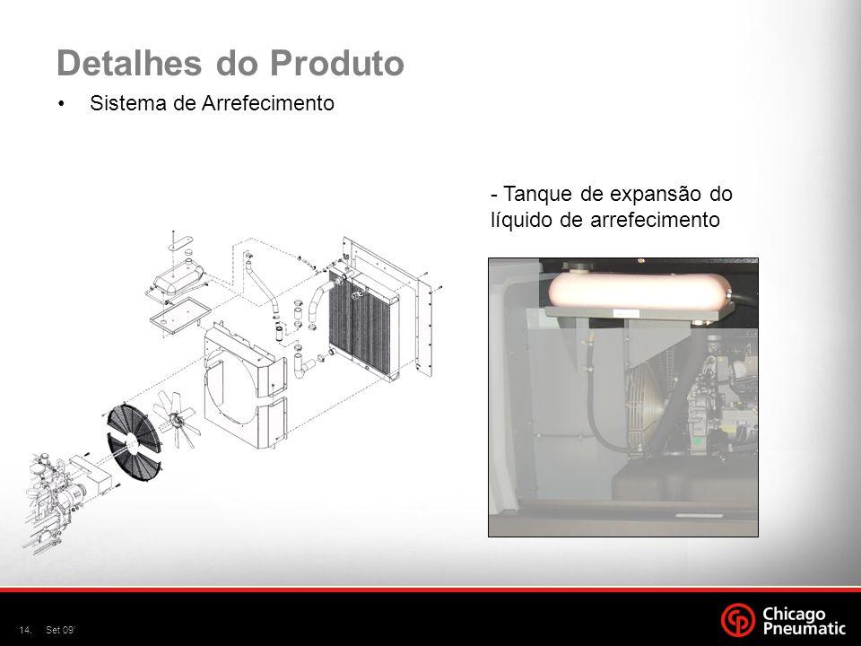 14.Set 09' Detalhes do Produto Sistema de Arrefecimento - Tanque de expansão do líquido de arrefecimento