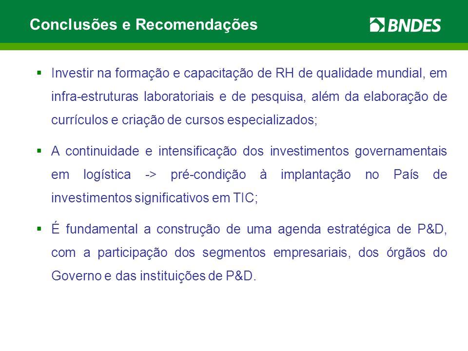  Investir na formação e capacitação de RH de qualidade mundial, em infra-estruturas laboratoriais e de pesquisa, além da elaboração de currículos e c