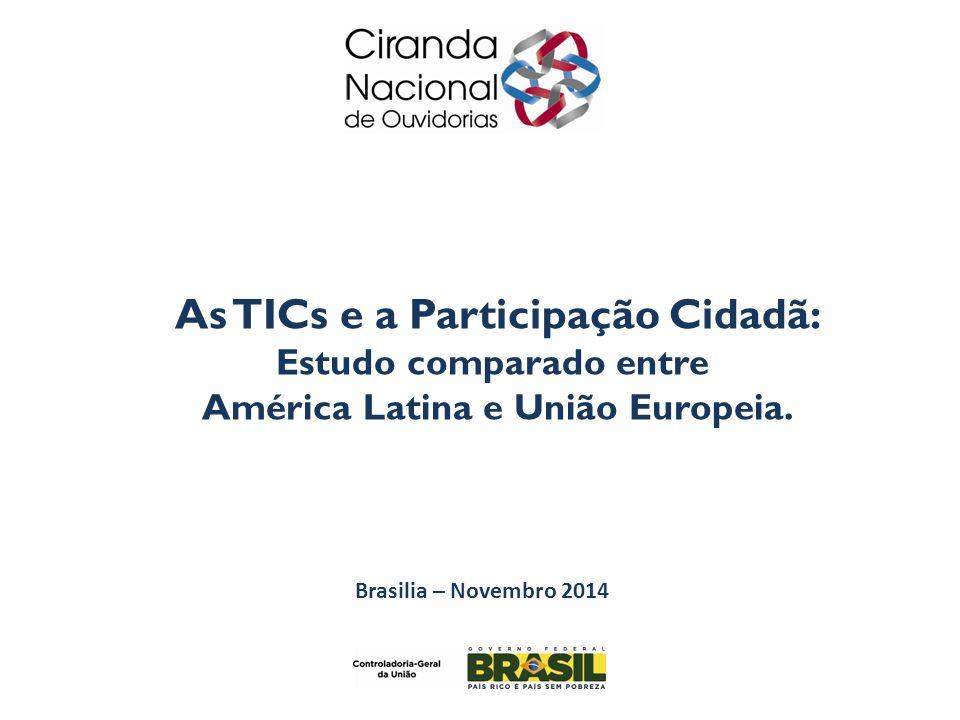 As TICs e a Participação Cidadã: Estudo comparado entre América Latina e União Europeia.