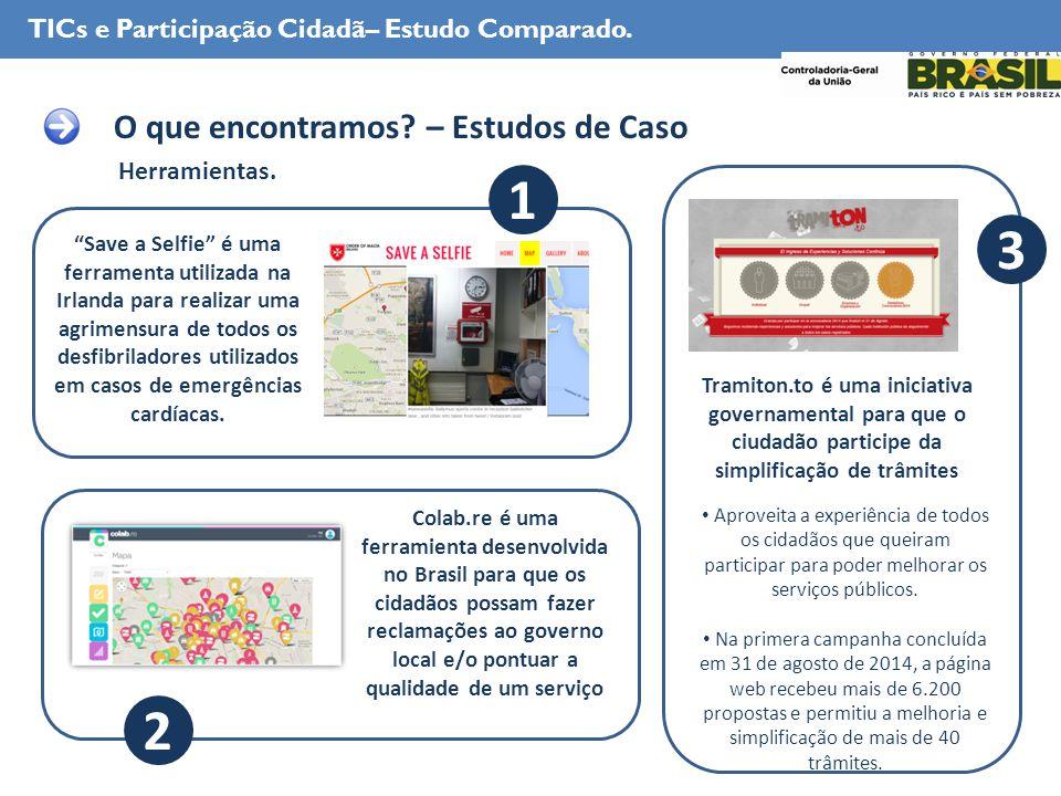 Herramientas. TICs e Participação Cidadã– Estudo Comparado.