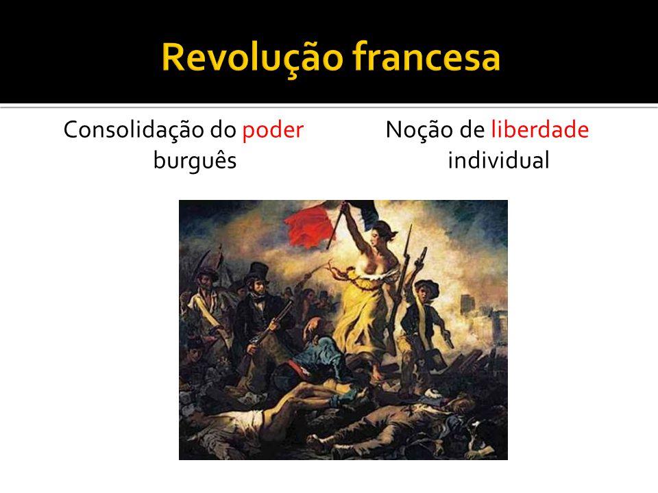 Consolidação do poder burguês Noção de liberdade individual