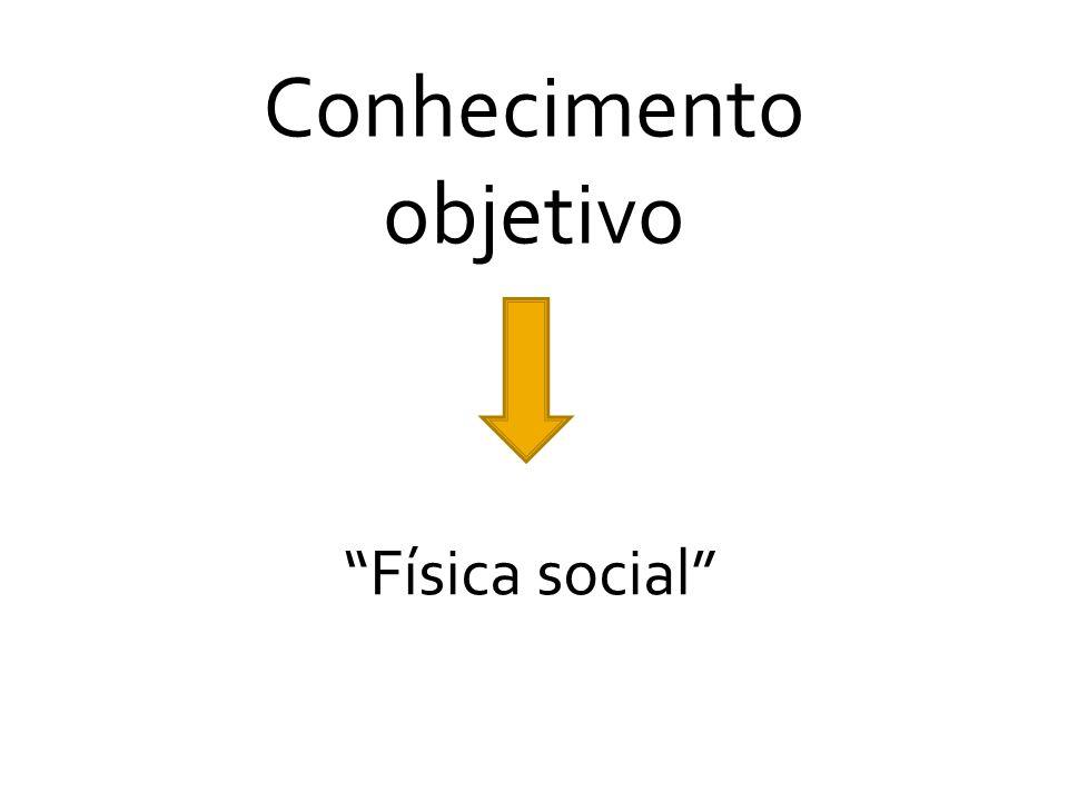 """Conhecimento objetivo """"Física social"""""""