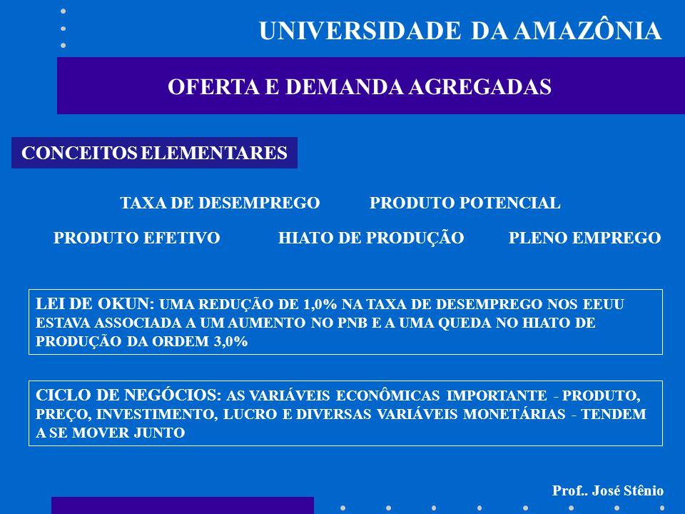 UNIVERSIDADE DA AMAZÔNIA OFERTA E DEMANDA AGREGADAS MACROECONOMIA: ESTUDO DAS FLUTUAÇÕES ECONÔMICAS Prof..