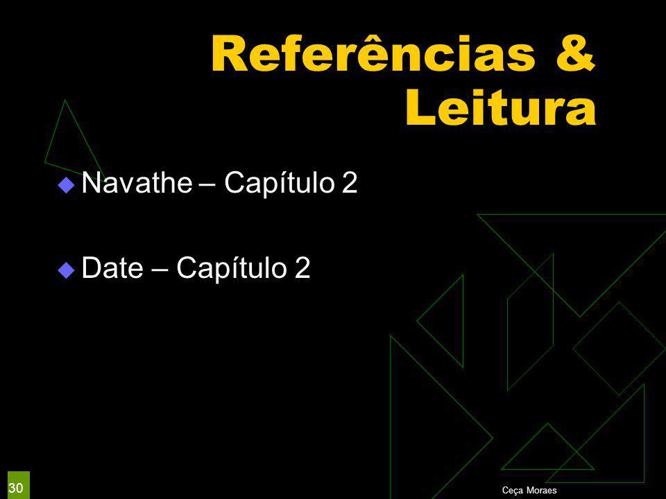 Ceça Moraes 30 Referências & Leitura  Navathe – Capítulo 2  Date – Capítulo 2