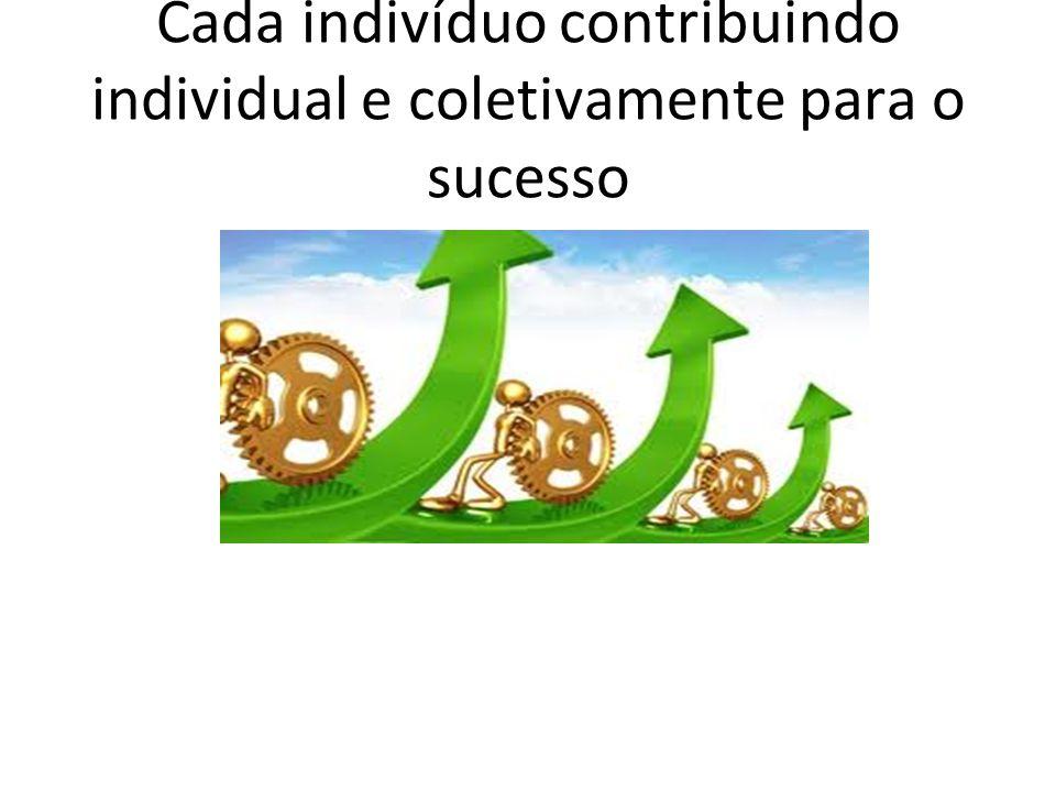 Cada indivíduo contribuindo individual e coletivamente para o sucesso