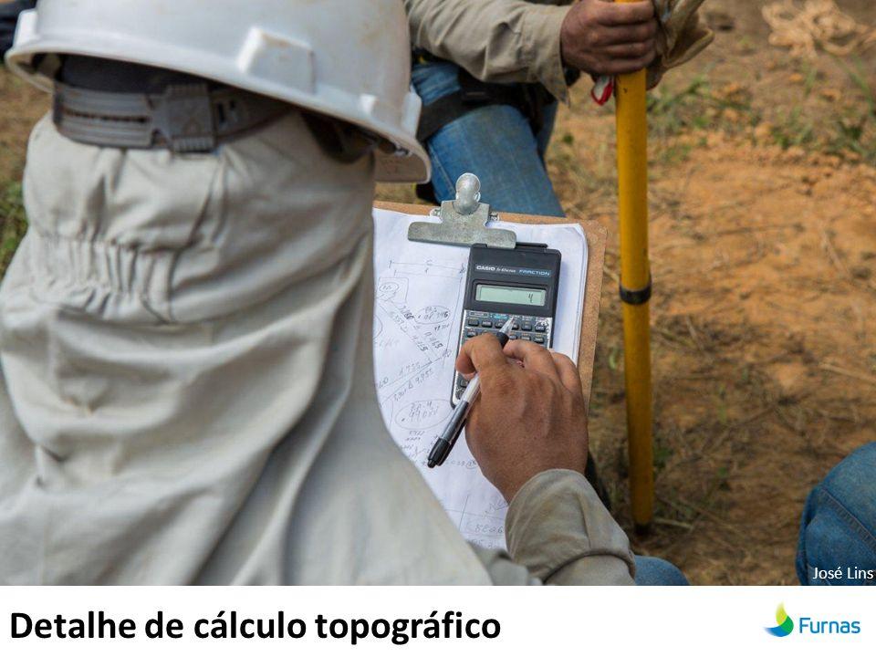 Detalhe de cálculo topográfico José Lins