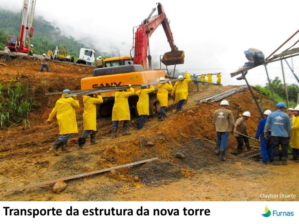 Transporte da estrutura da nova torre Clayton Duarte