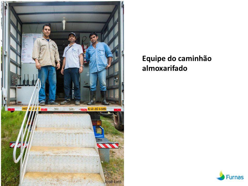 Equipe do caminhão almoxarifado José Lins