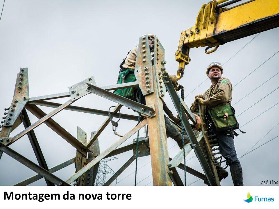 Montagem da nova torre José Lins