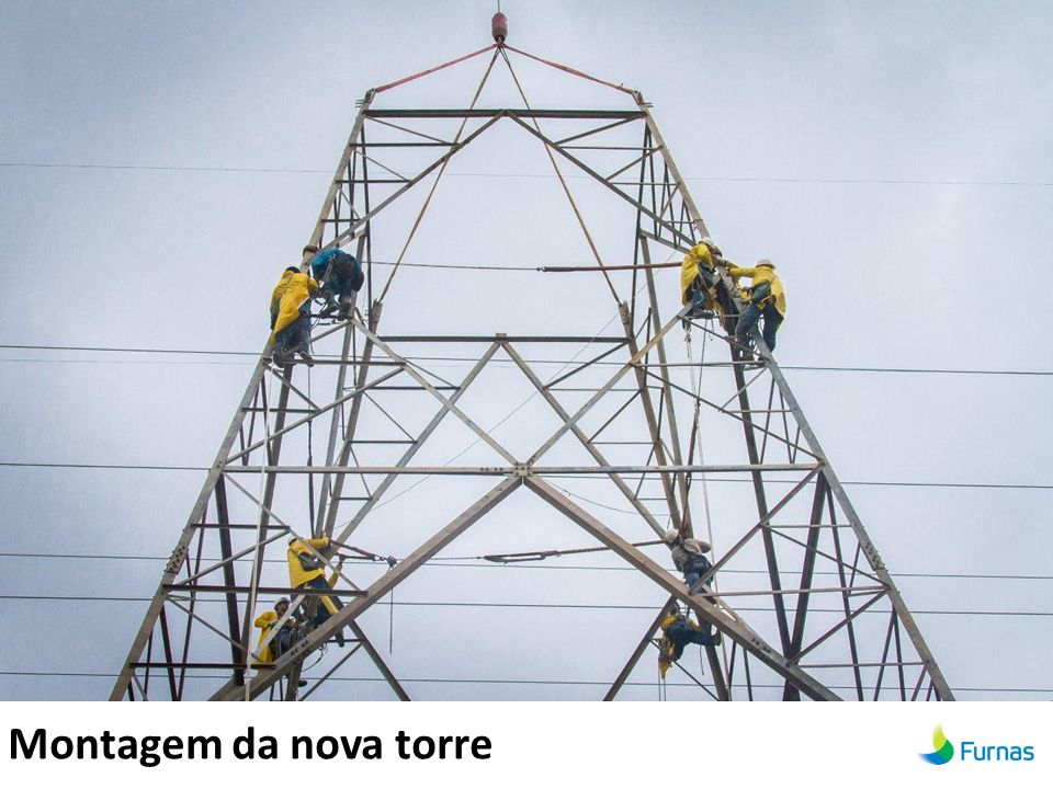 Montagem da nova torre