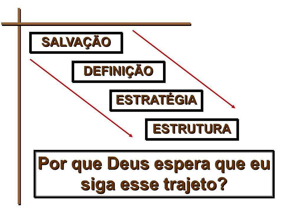 SALVAÇÃO DEFINIÇÃO ESTRATÉGIA ESTRUTURA Por que Deus espera que eu siga esse trajeto?