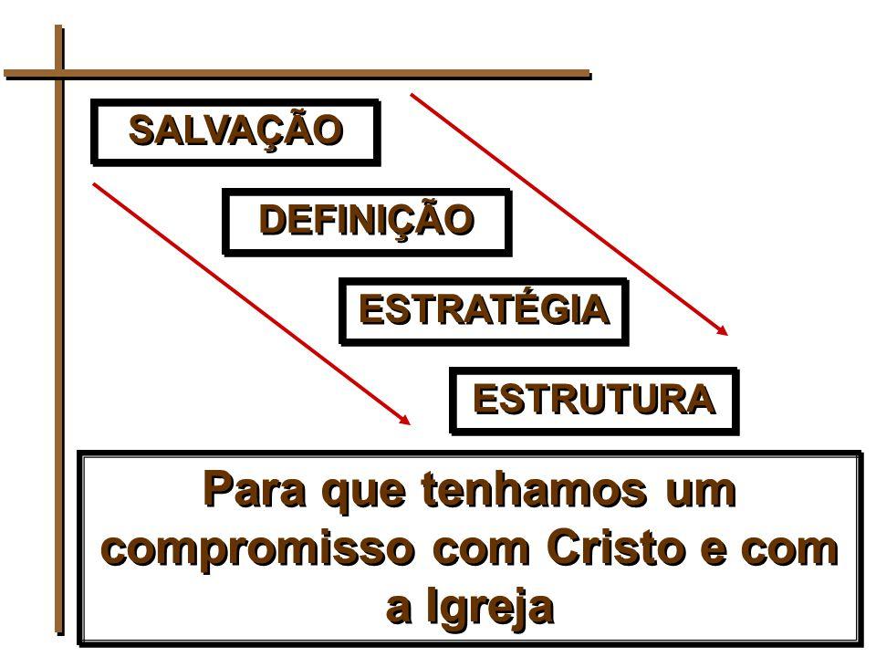 SALVAÇÃO DEFINIÇÃO ESTRATÉGIA ESTRUTURA Para que tenhamos um compromisso com Cristo e com a Igreja