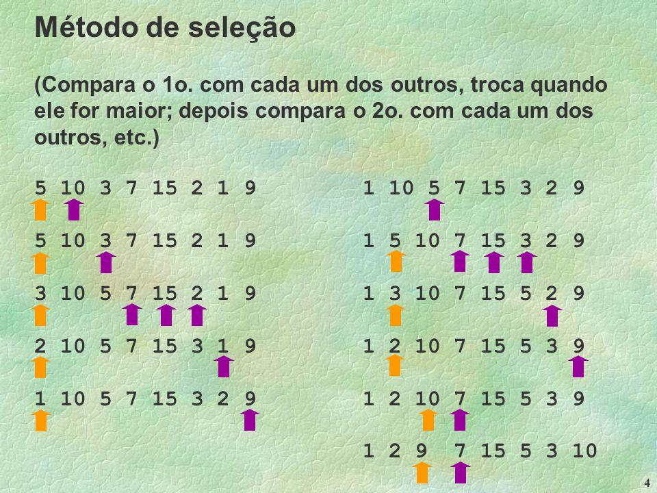 4 Método de seleção (Compara o 1o.