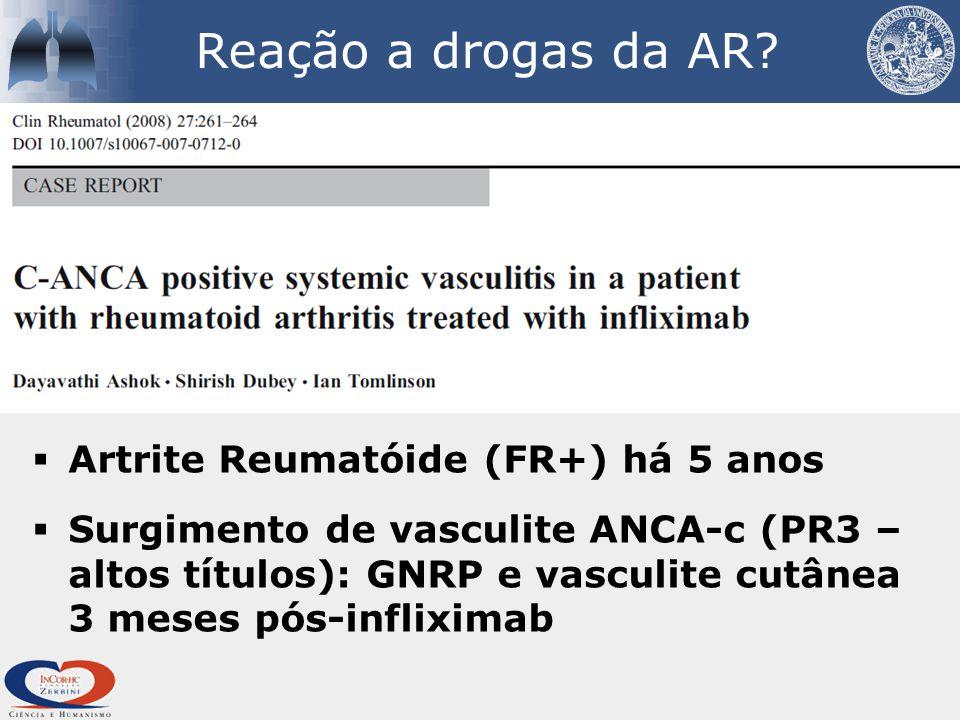 Reação a drogas da AR.