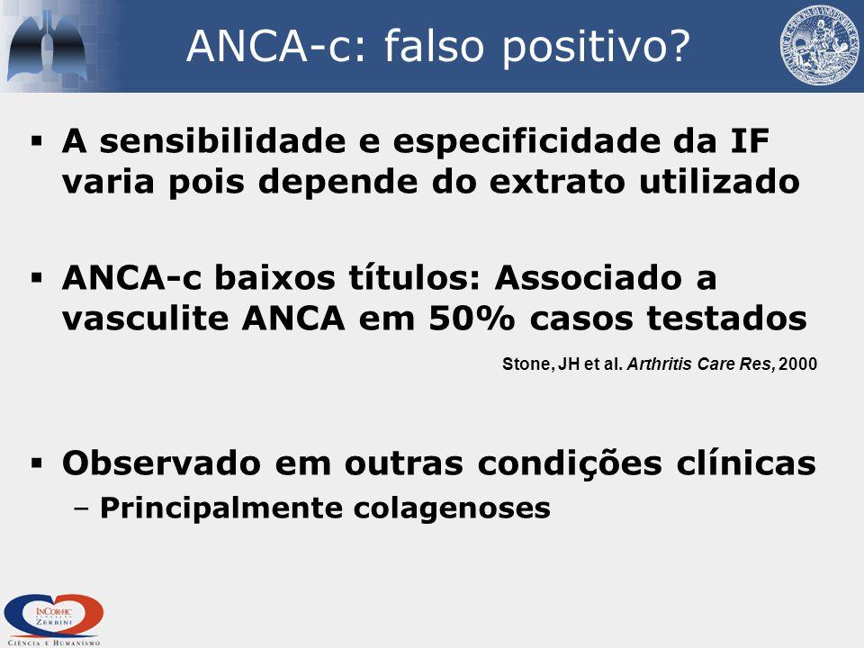 ANCA-c: falso positivo.