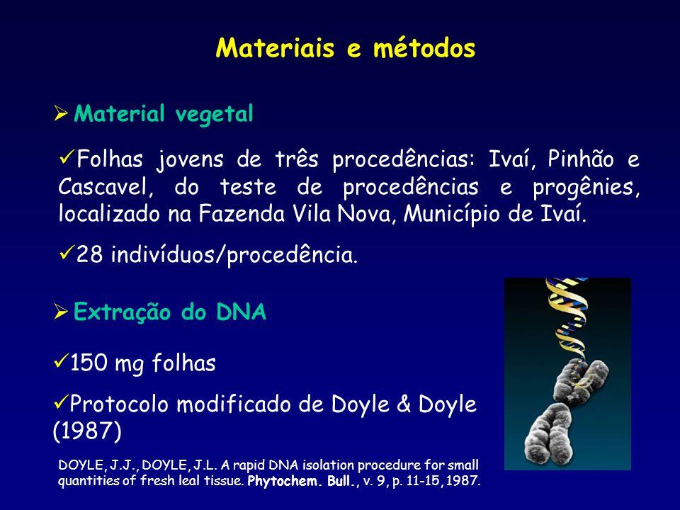 Etapas da extração do DNA