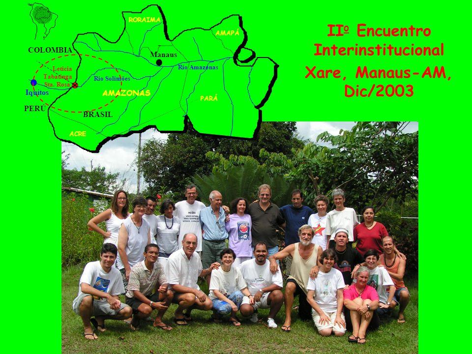PERÚ COLOMBIA PARÁ RORAIMA Manaus Rio Solimões Rio Amazonas ACRE AMAPÁ Leticia Tabatinga Sta. Rosa Iquitos AMAZONAS BRASIL II o Encuentro Interinstitu