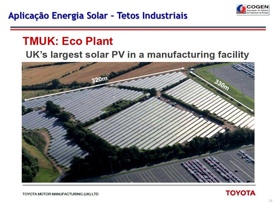 Aplicação Energia Solar – Tetos Industriais 14