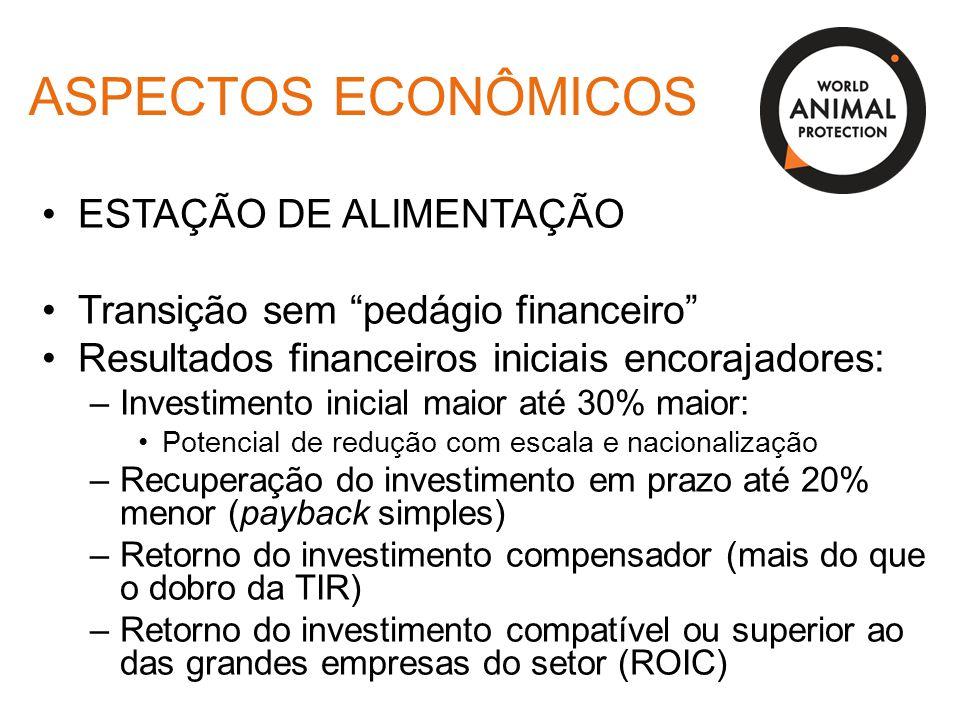 """ASPECTOS ECONÔMICOS ESTAÇÃO DE ALIMENTAÇÃO Transição sem """"pedágio financeiro"""" Resultados financeiros iniciais encorajadores: –Investimento inicial mai"""