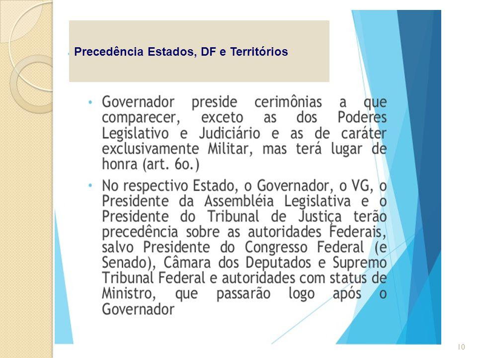 Precedência Estados, DF e Territórios 10