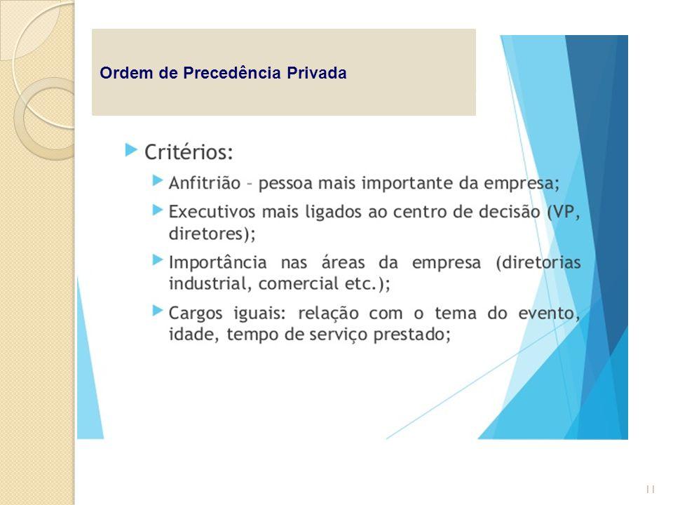 Ordem de Precedência Privada 11