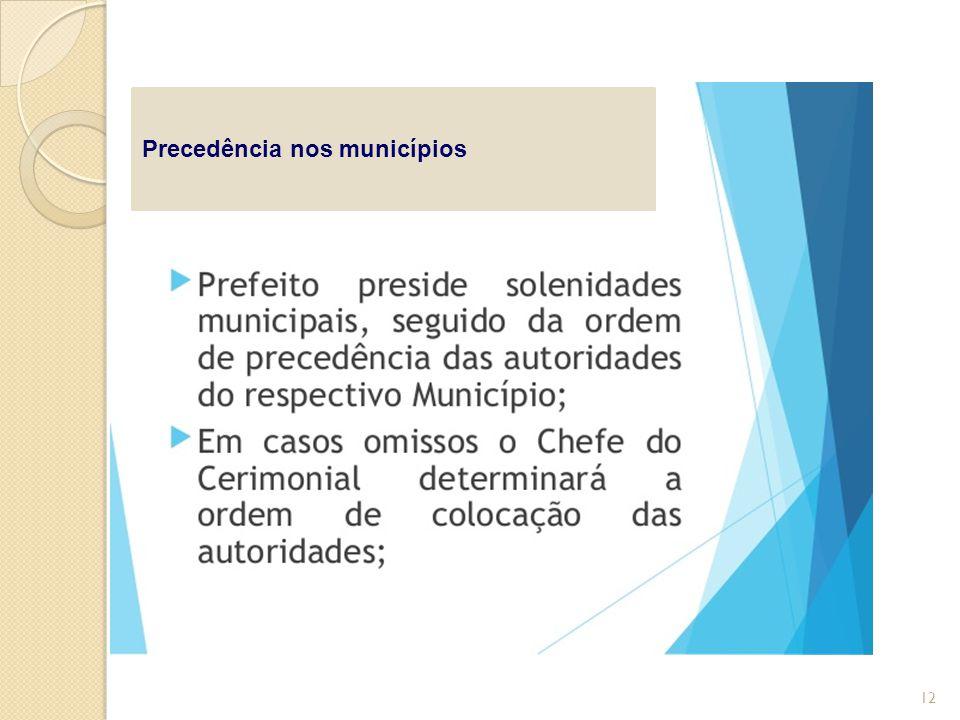 Precedência nos municípios 12