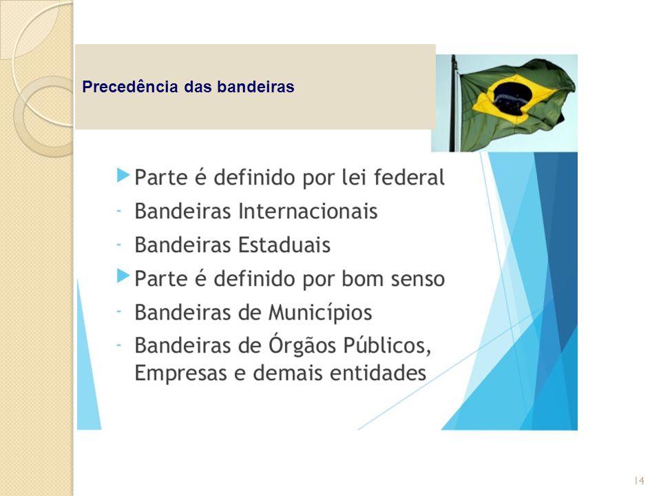 Precedência das bandeiras 14