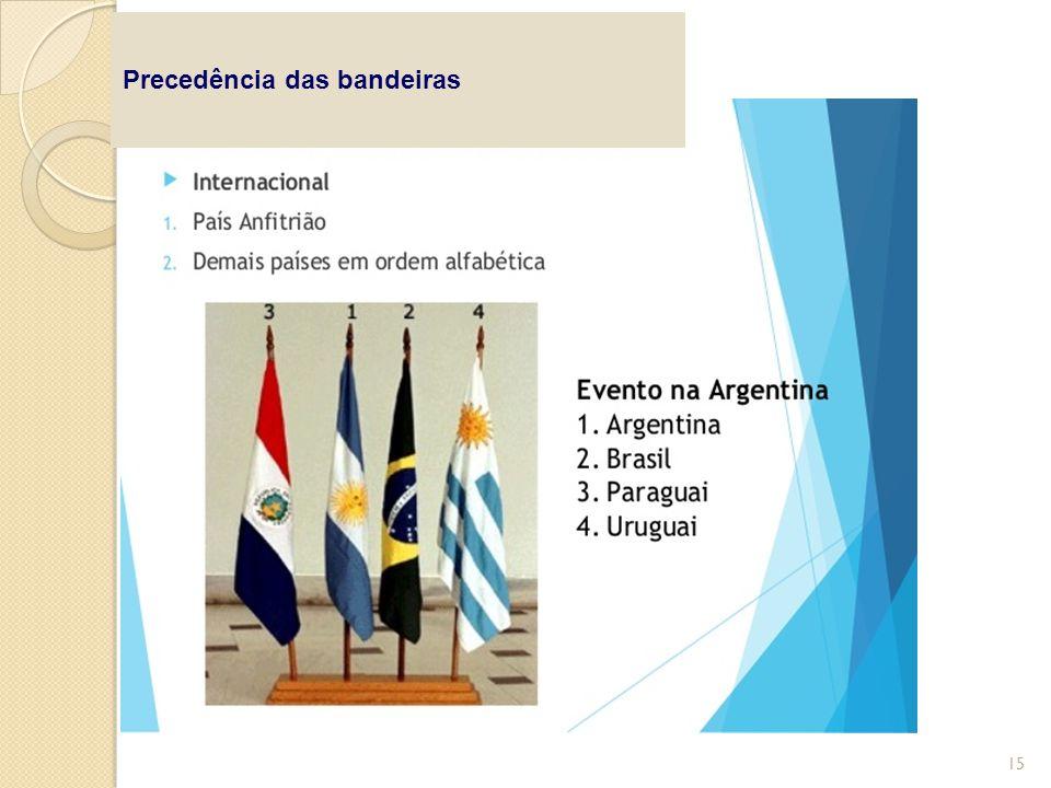 Precedência das bandeiras 15