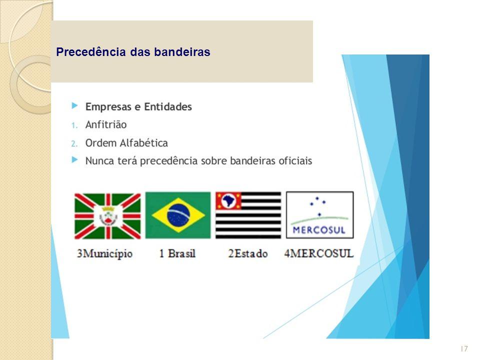 Precedência das bandeiras 17