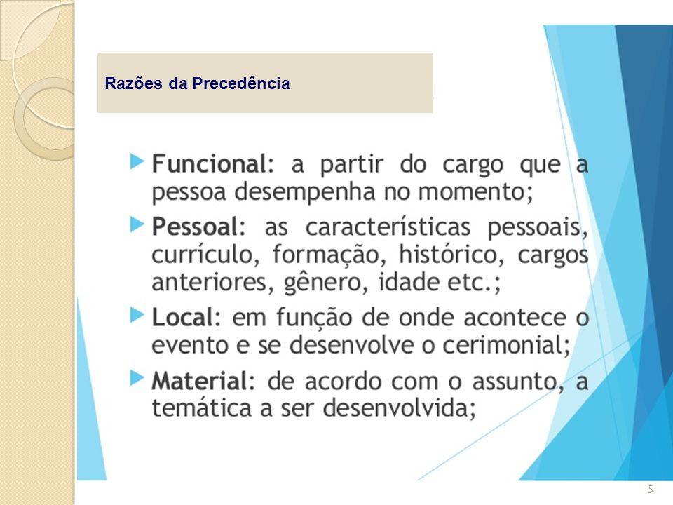 Razões da Precedência 5