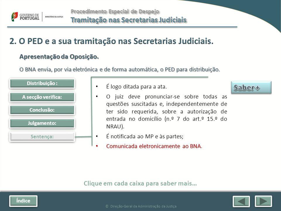 Índice © Direção-Geral da Administração da Justiça Julgamento: Sentença: Clique em cada caixa para saber mais… Distribuição : A secção verifica: Conclusão: É logo ditada para a ata.