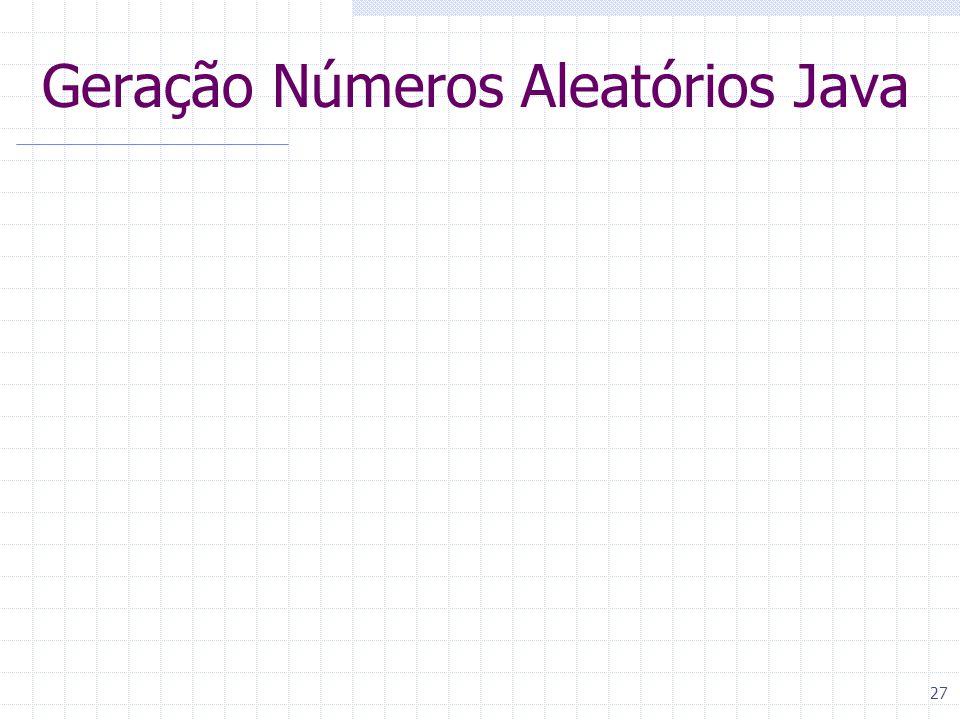 27 Geração Números Aleatórios Java