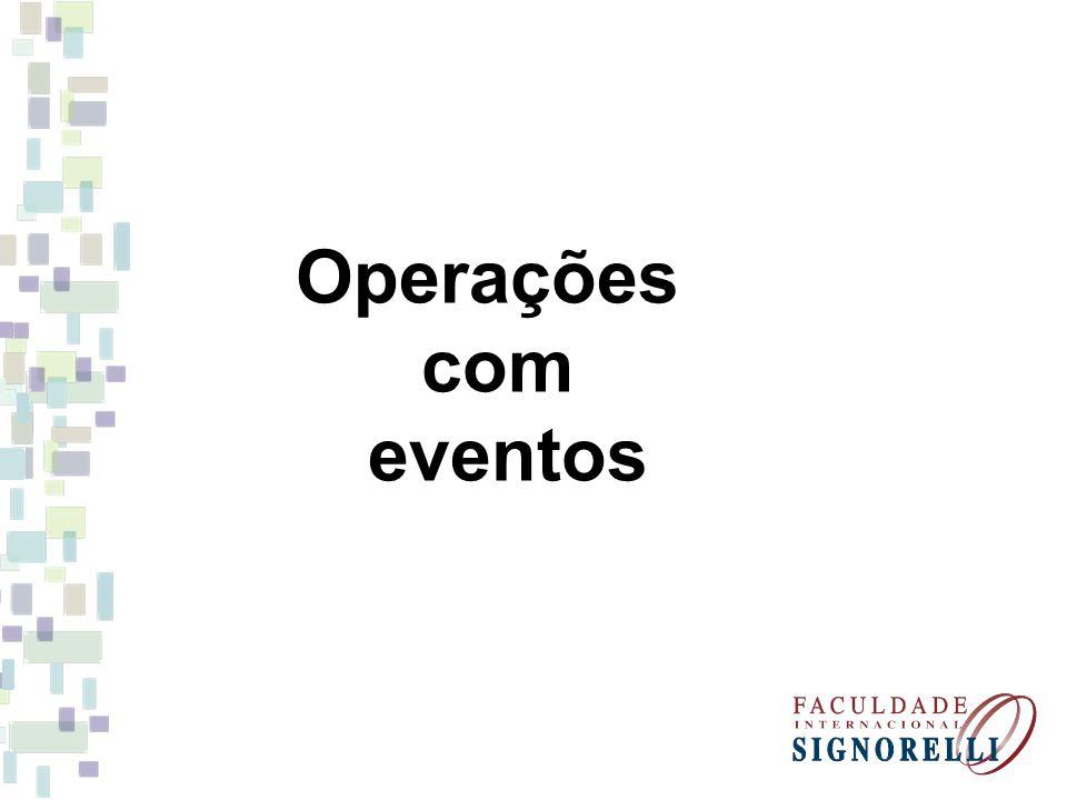 Operações com eventos