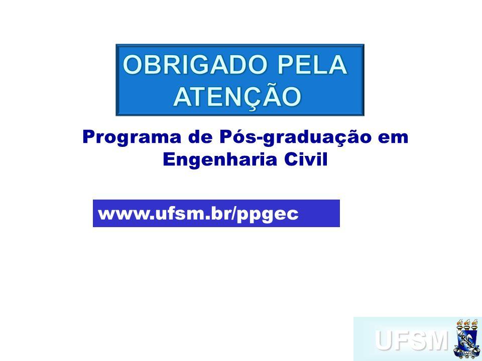 UFSM Programa de Pós-graduação em Engenharia Civil www.ufsm.br/ppgec