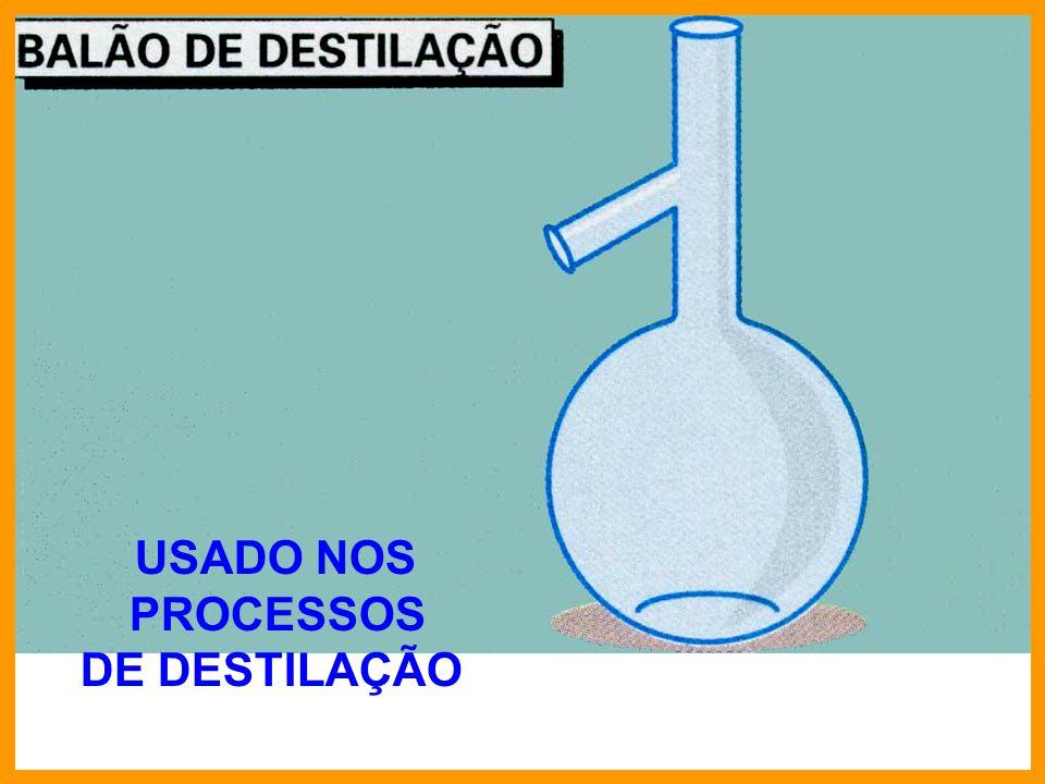 USADO NOS PROCESSOS DE DESTILAÇÃO