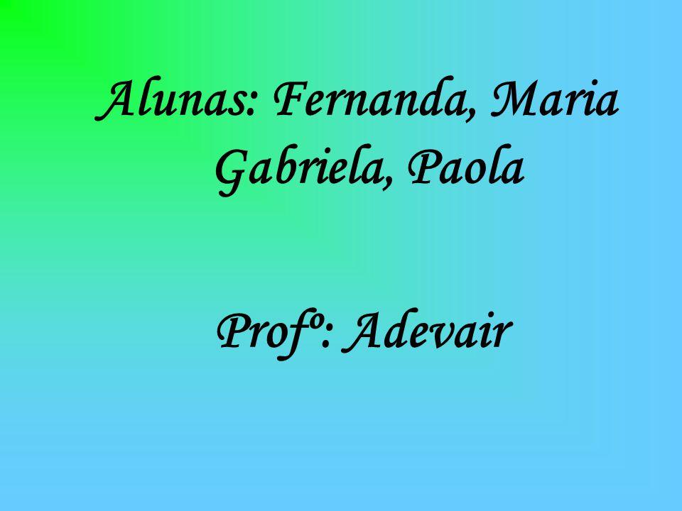 Alunas: Fernanda, Maria Gabriela, Paola Profº: Adevair