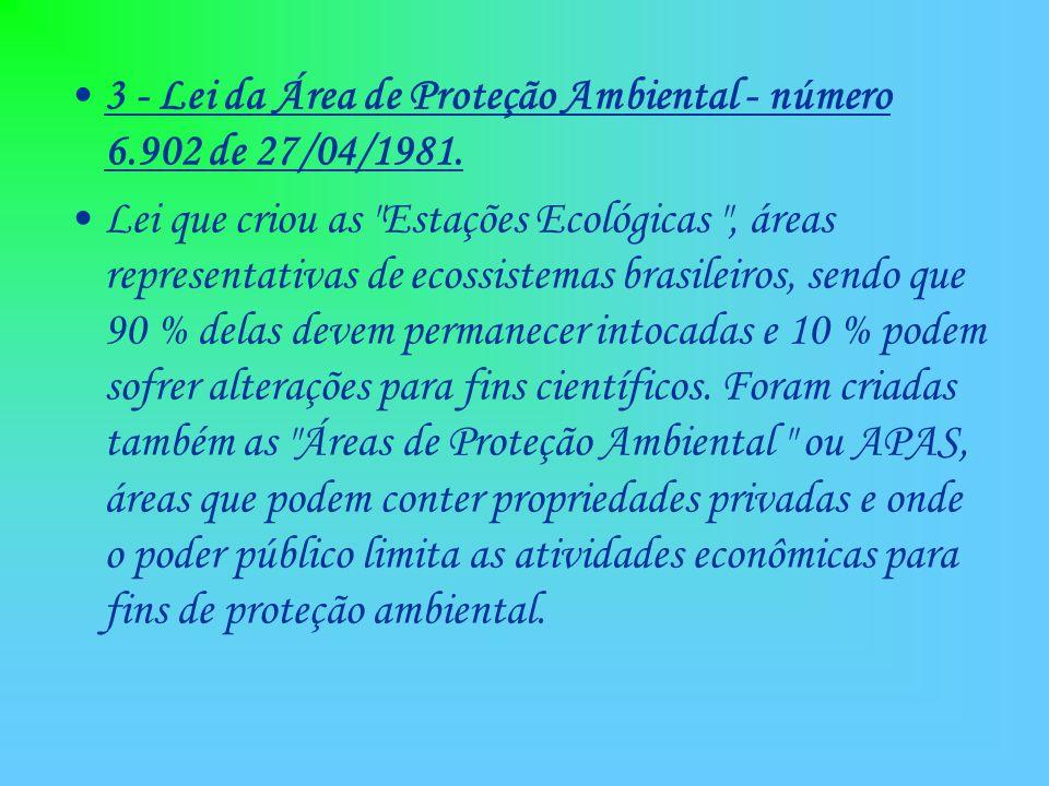 9 – Lei das Florestas – número 4.771 de 15/09/1965.