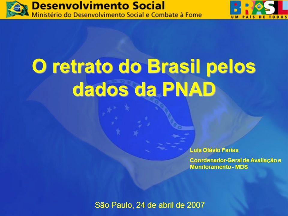 O retrato do Brasil pelos dados da PNAD São Paulo, 24 de abril de 2007 Luis Otávio Farias Coordenador-Geral de Avaliação e Monitoramento - MDS
