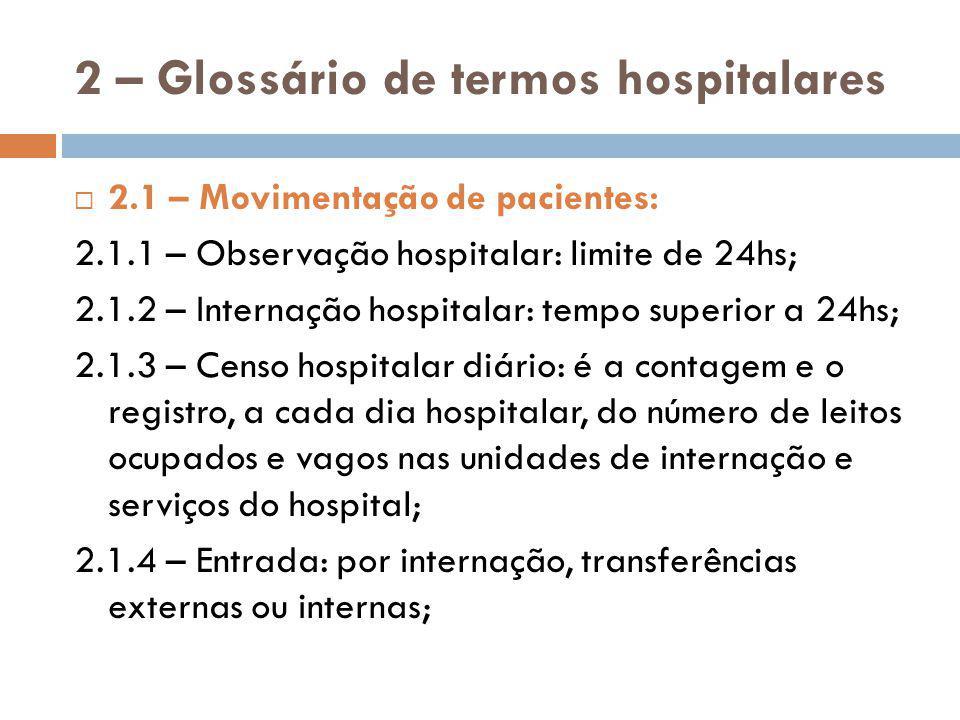 2 – Glossário de termos hospitalares 2.2.21 – Alojamento conjunto: modalidade de acomodação em que o recém-nascido sadio permanece alojado em berço contíguo ao leito da mãe, 24hs/dia, até a saída da mãe do hospital; 2.2.22 – Berço do RN em alojamento conjunto; 2.2.23 – Leito de berçário para RN sadio: berço destinado ao RN sadio e localizado em berçário, longe da mãe;