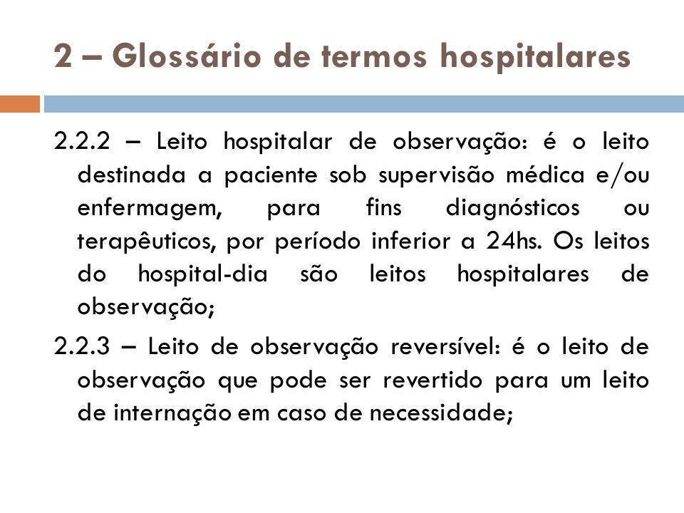 3 – Indicadores Hospitalares 3.1 – Média de pacientes – dia: Relação entre o número de pacientes-dia e o número de dias, em determinado período.