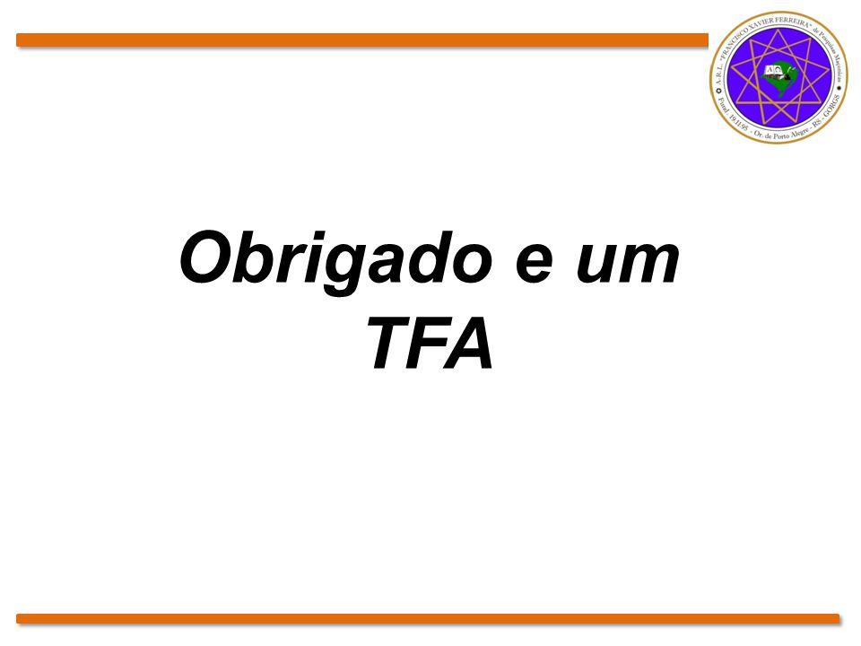 Obrigado e um TFA