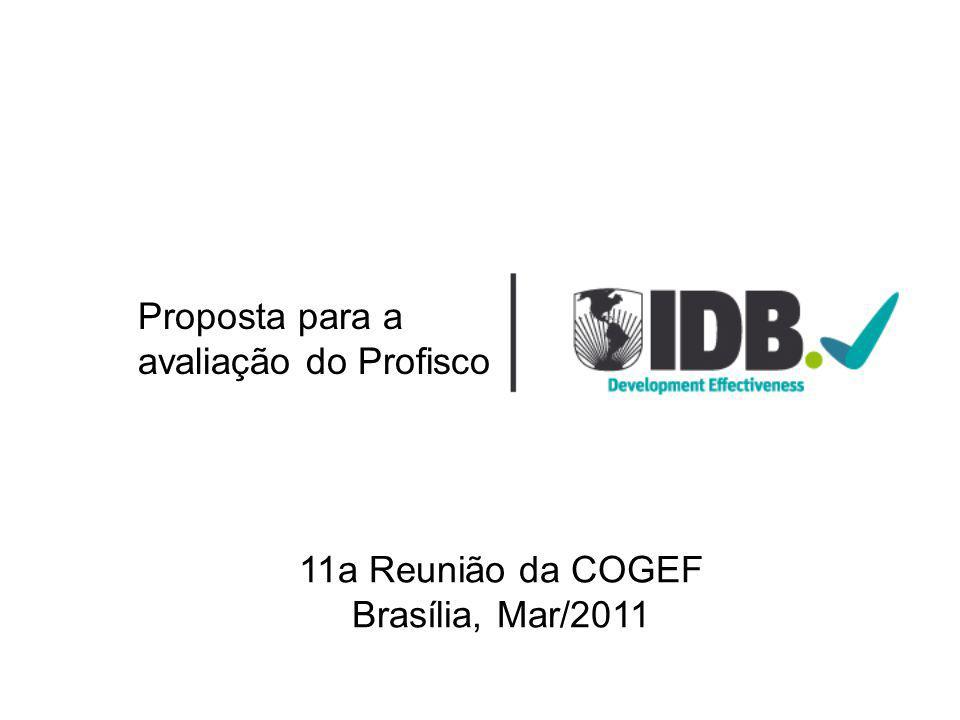 Proposta para a avaliação do Profisco 11a Reunião da COGEF Brasília, Mar/2011