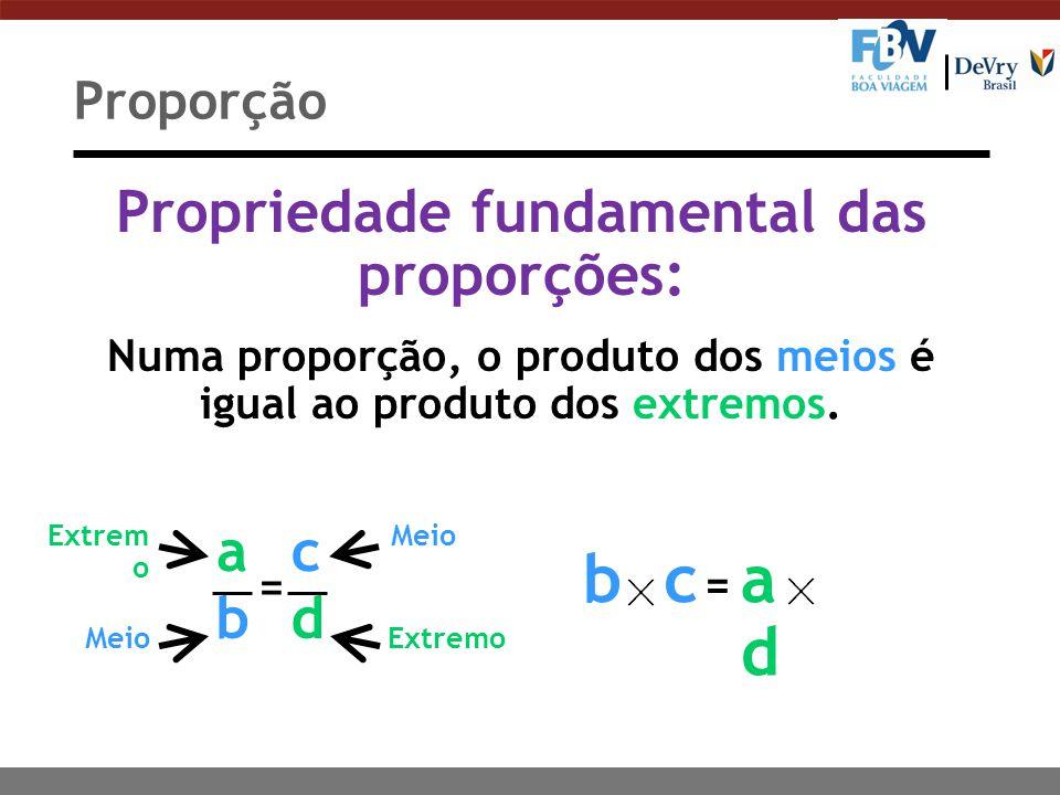 Exemplos: É proporção Não é proporção Proporção