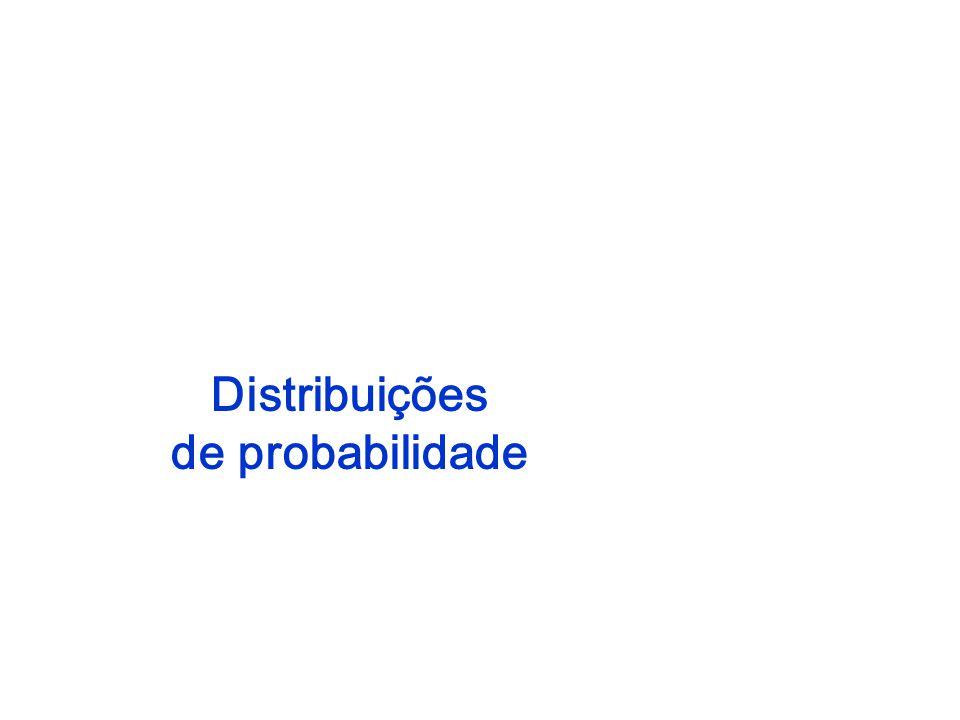 Uma variável aleatória, x, é o resultado numérico de um experimento probabilístico.