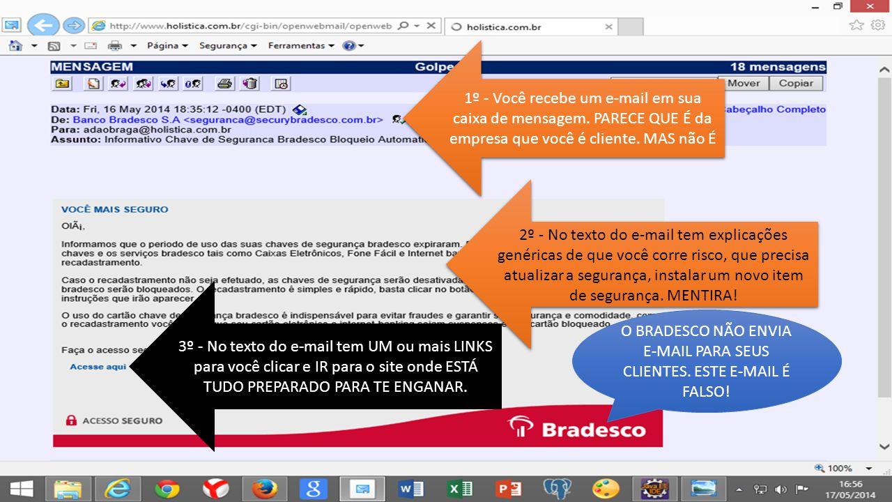 1º - Você recebe um e-mail em sua caixa de mensagem.