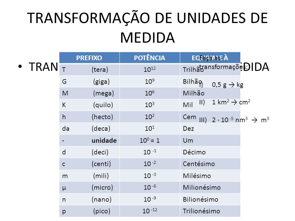 TRANSFORMAÇÃO DE UNIDADES DE MEDIDA UNIDADES DE TEMPO 1 min60 s 1 h60 min 1 h3600 s UNIDADES VELOCIDADE 10 m/s36 km/h Exemplos: Qual o intervalo de tempo entre os instantes t 0 = 2h 57min 33s e t = 5h 34min 12s.