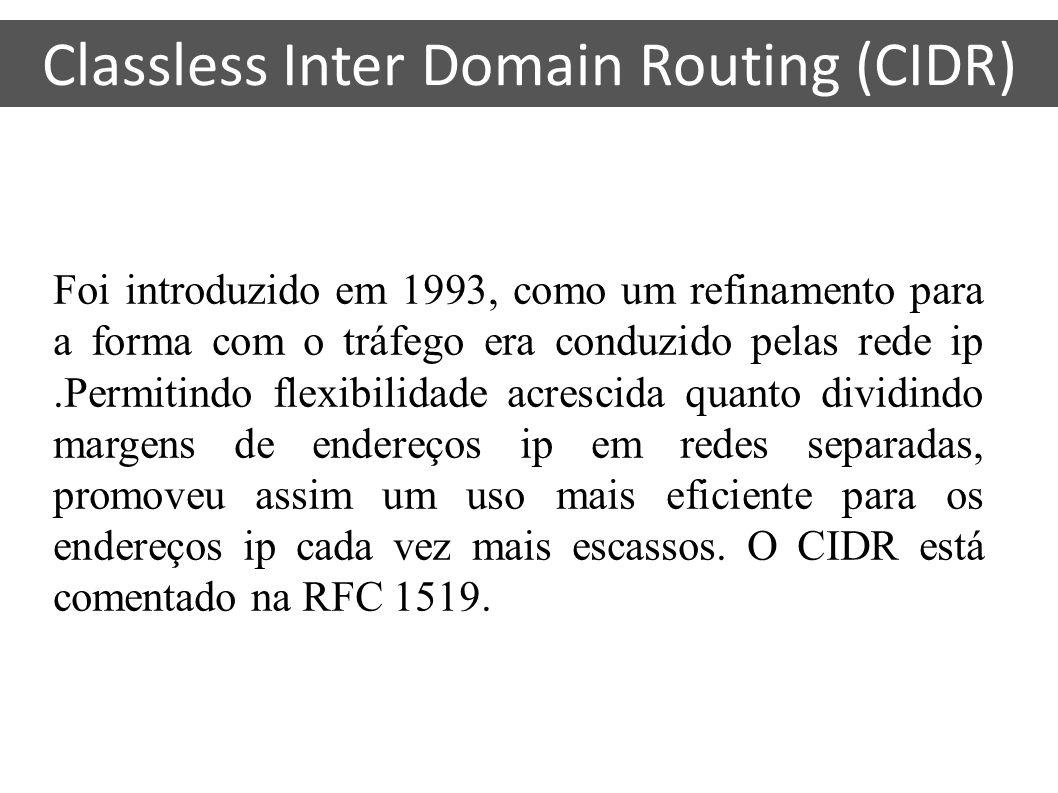Foi introduzido em 1993, como um refinamento para a forma com o tráfego era conduzido pelas rede ip.Permitindo flexibilidade acrescida quanto dividind