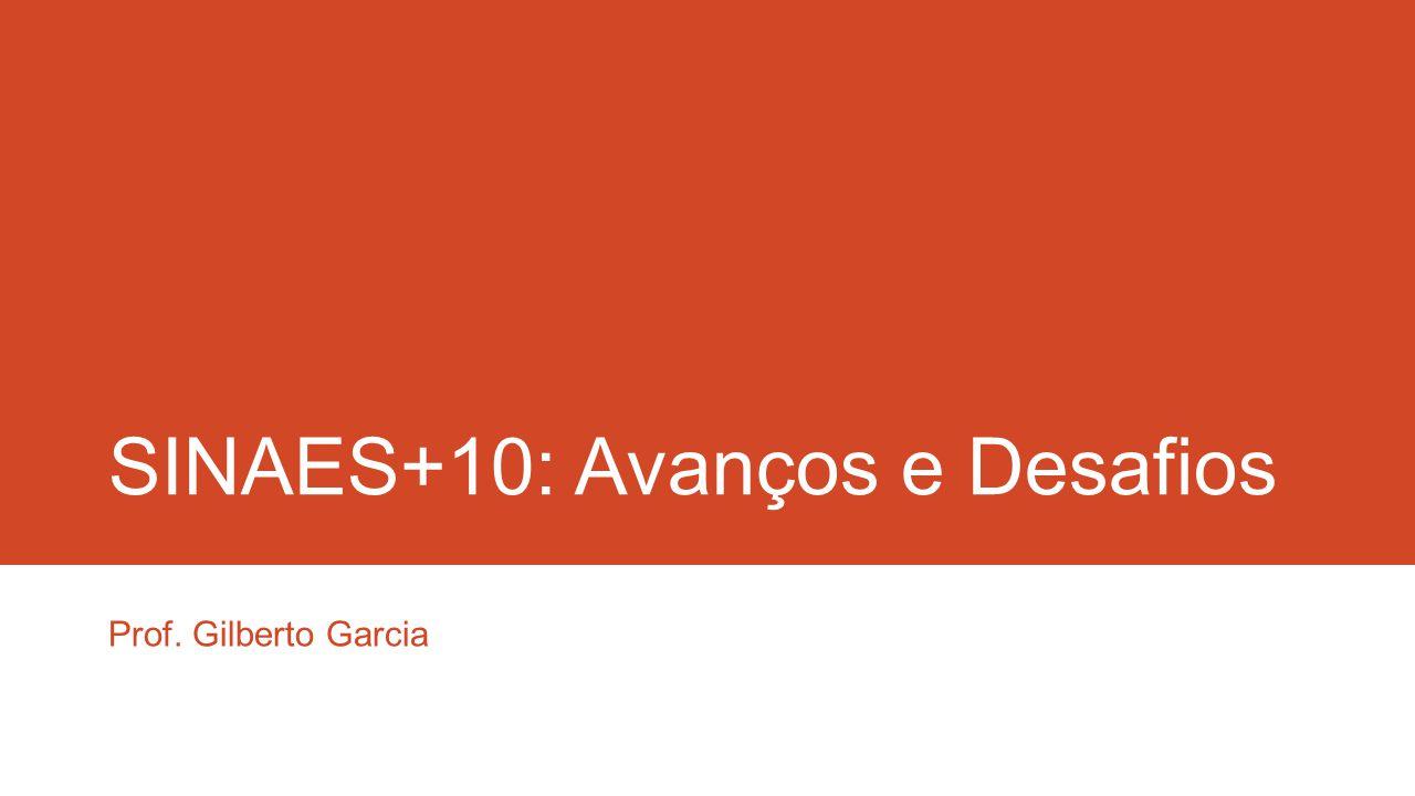 SINAES+10: Avanços e Desafios Prof. Gilberto Garcia