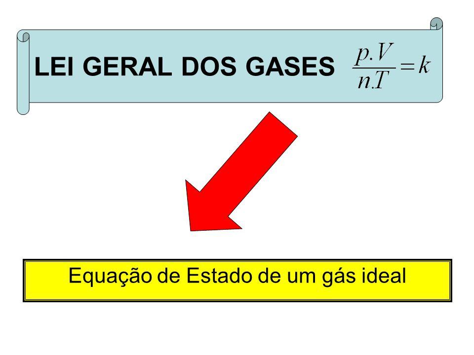 Equação de Estado de um gás ideal LEI GERAL DOS GASES
