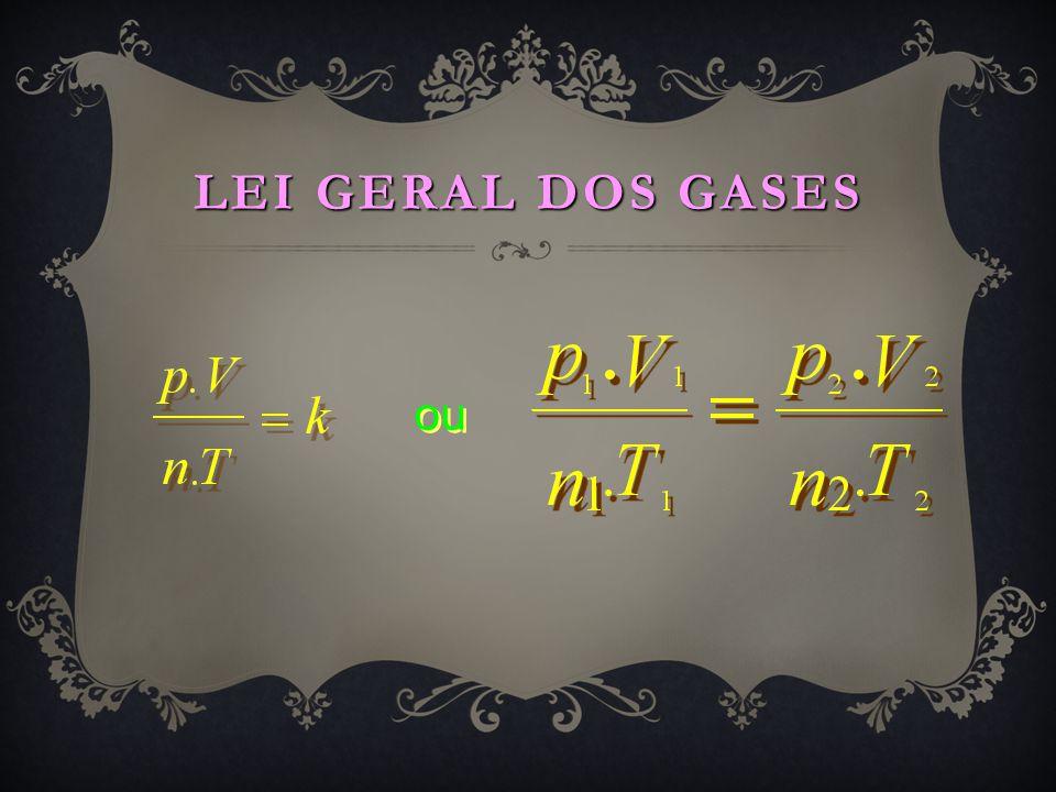 LEI GERAL DOS GASES ou
